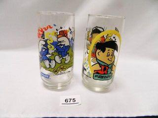 Freddy Flintstone Kids Glass  1986