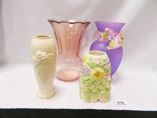 Pink Glass Vase  lenox Vase