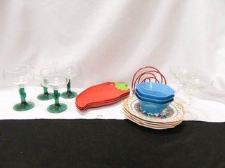 Margarita Glasses  Serving Dishes