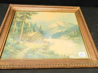 Cabin Print Framed