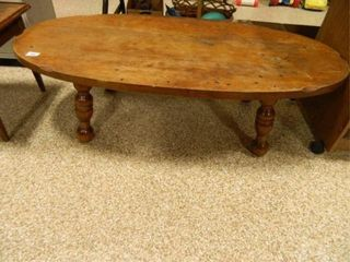 Oval Coffee Table  Solid Wood