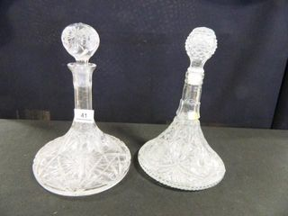 Decanters w Stoppers  Crystal