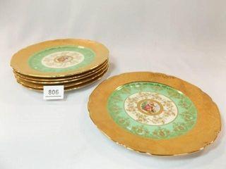 Victoria 81 2  Plates  6  24K Gold