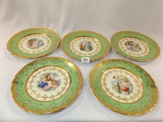Victoria Dinner Plates  101 2    24K Gold