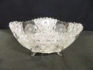 Crystal Bowl w Sawtooth Edge