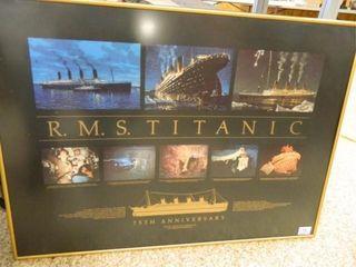Titanic 75th Ann  Framed Print