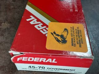 Federal Hi-Power 45-70 Government 300 Grain Hollow Soft Point Full Box Of 20