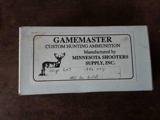 Gamemaster 45-70 Government 400 Grain Bullet Full Box Of 20