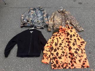 3-Hunting Jackets Size L/XL & 1-Jacket Liner