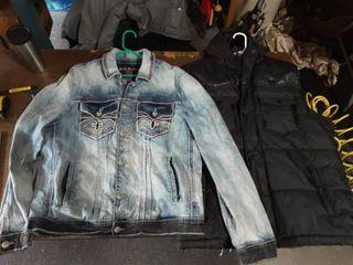 Rock Revival Jean Jacket XL, Parrish Nation Vest XL
