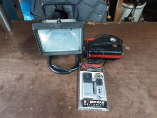 Work Light, 12 Volt Compressor, NEW Tool Box Alarm