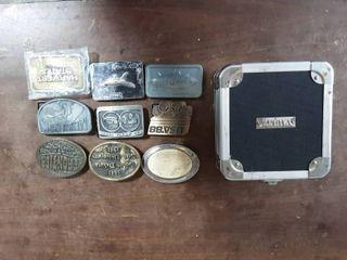 9-Assorted Belt Buckles, Vaultz Case