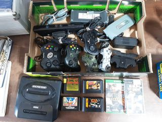 Sega Genesis Console Only & 4-Games, X-Box And PlayStation Controllers, Games, More