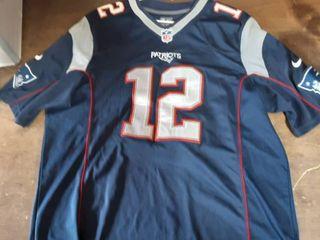 NFL Patriots Jersey Tom Brady #12 Size Large