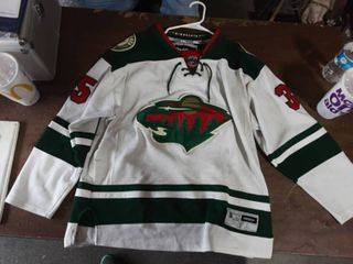 NHL Reebok MN Wild Jersey Kuemper #35 Size Large