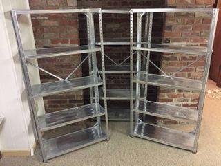 3   30in x 58in x 12in Metal 5 shelf units