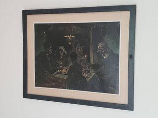 Framed Artwork   30 in  x 24 in