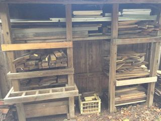 Project Wood   All loose pieces on outside racks   in crate  Racks not included  BRING HElP TO lOAD