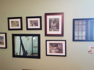 Framed Mirrors and Artwork