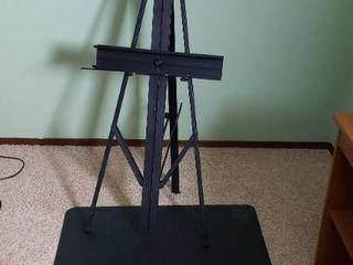 Metal Adjustable Floor Easel 71 in  and Chair Mat