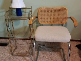 Chair  Metal Stand and lamp