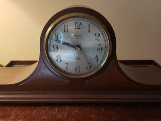 Revere Electric Dark Wood Mantle Clock   Works   18 x 5 5 x 8 5 in