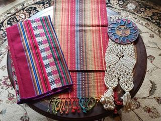 Colorful Tablecloth  Table Runner  and Wall Decor