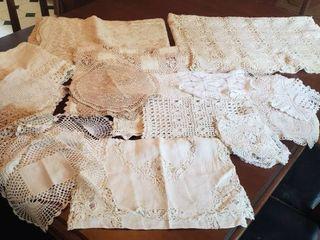Vintage lace Table linens
