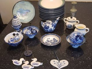 Blue   White Dishes and Decor