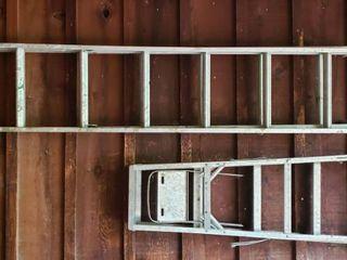 12 ft  Aluminum Extension ladder and 5 ft  Aluminum Step ladder