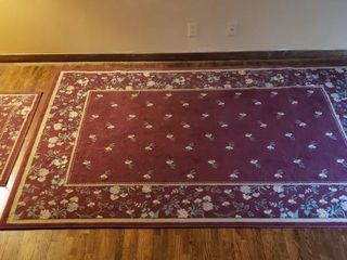Delicacy Plum Ultrasoft Area Rug   63 x 94 in  and Coordinating 38 x 23 in  Rug