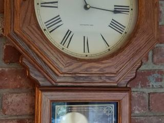 Verichron Quartz Wall Clock w Westminister Chimes   Works   16 x 26 in    Battery Operated
