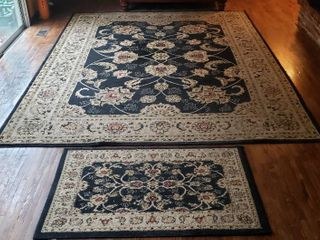 Antep large Area Rug  7 ft  10 in  x 10 ft 6 in  and Coordinating 2 ft  7 in  x 4 ft  1 in  Rug