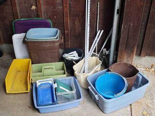 Plastic Trash Cans  Buckets  Baskets  Bins  Metal Shelving Parts and Shelving Angles