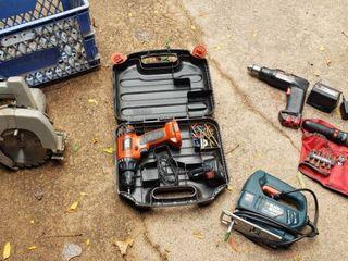 B   D Circular Saw  B   D Jigsaw  B   D 9 6 V Cordless Drill  Skil Cordless Drill  and B  D Screwdriver