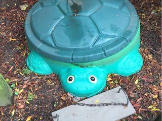 Turtle Sandbox   Wood Swing