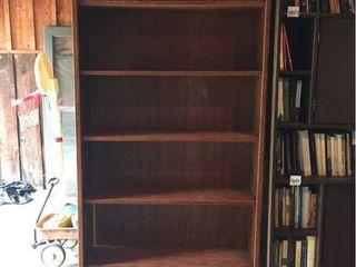 Oak Book Shelf  adjustable shelves   36in W x 10in D x 84in T