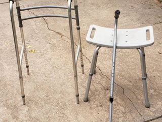 Walker  Cane  and Shower Seat