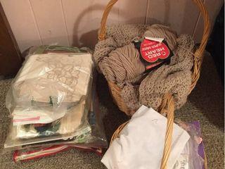 Yarn  needle art  baskets