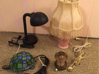 Small lamps  Stained Glass Turtle nightlight  Mini lantern lamp