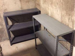2 Metal 3 Shelf units  36in T x 36in W x 12in D  IN BASEMENT