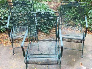 3 Metal Rocker Patio Chairs
