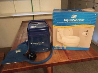 AquaSense Raised Toilet Seat   Polar Care Cube cold therapy system