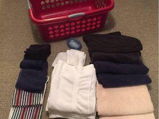 Bath Towels  Hand Towels  Washcloths  Soap Dish  laundry Basket