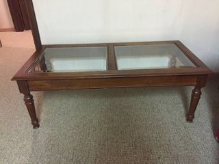 Coffee Table w glass inset top