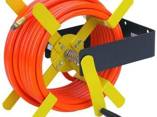 Central Pneumatic 46342 a 100 Ft  Open Side Steel Air Hose Reel