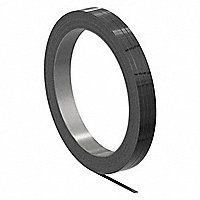 SIGNODE Steel Strapping  Steel  Black  5 8 in Strapping Width  0 017 in Strapping Thickness