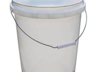 Encore Plastics 5 Gallon Pail  White x2