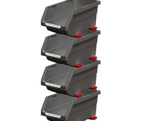 Stackable 6 in  Click It Bin  Gray