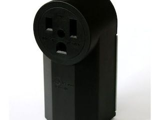 Utilitech Black 50 Amp Round Outlet Industrial Outlet
